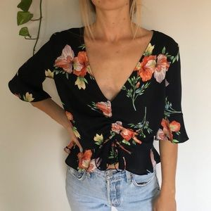 Tropical blouse, brand: topshop!